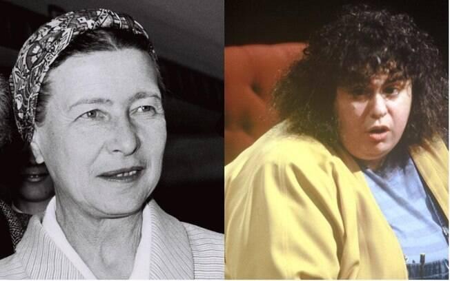 Simone de Beauvoir (esq) teorizou o patriarcado; Andrea Dworkin foi uma importante militante