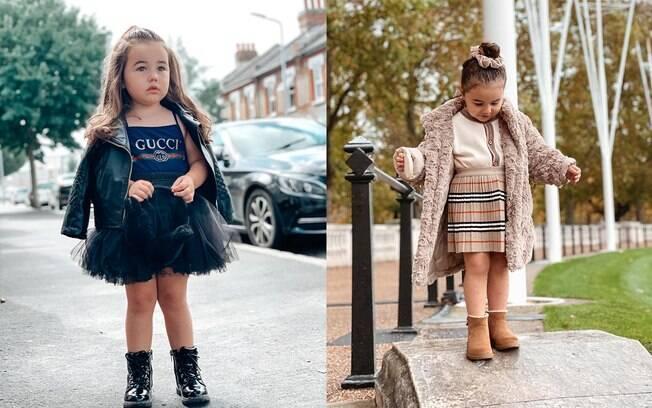 Sorenna tem três anos e um guarda-roupa de R$ 133 mil