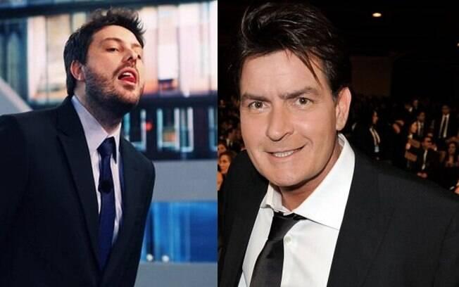 Danilo Gentilli e Charlie Sheen: que dupla!