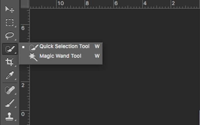 Na barra de ferramentas, no canto esquerdo da tela, selecione a quarta opção,