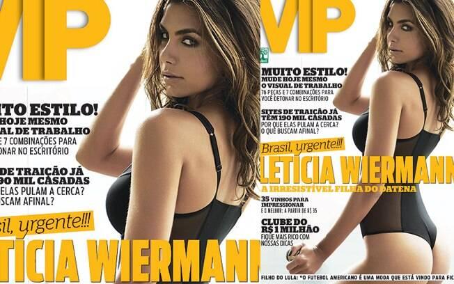 Letícia Wiermann na capa da revista