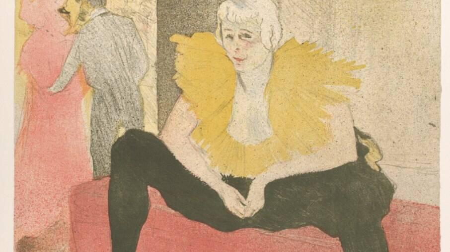 Pintura de Henri Toulouse-Lautrec de Cha-U-Kao