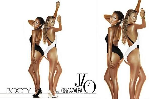 Jennifer Lopez com Iggy Azalea na capa do single de 'Booty'