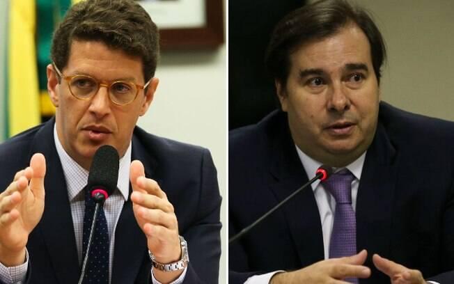 Ricardo Salles e Rodrigo Maia tem desentendimento público via twitter