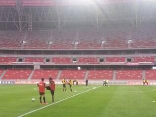 Primeira atividade do Galo foi na manhã desta quinta-feira, no estádio Ninho da Fênix