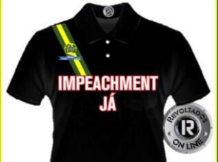 Revoltados On Line vendem camisetas pró-impeachment para organizar atos