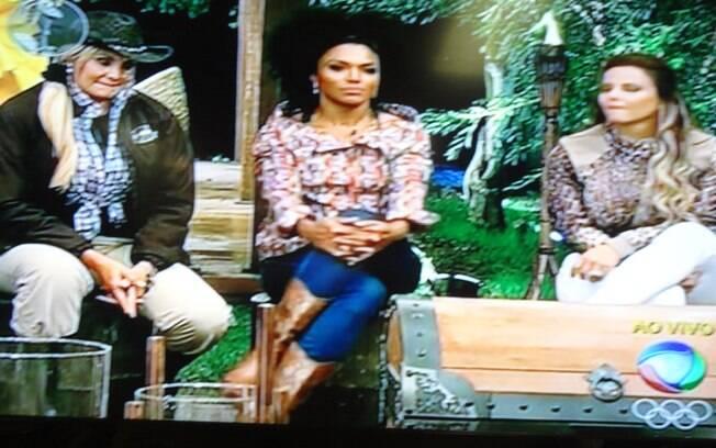 Ângela, Simone e Vivi estão na Roça