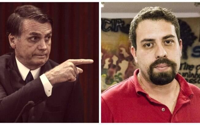 O presidente Jair Bolsonaro acionou a PF contra Guilherme Boulos após receber críticas
