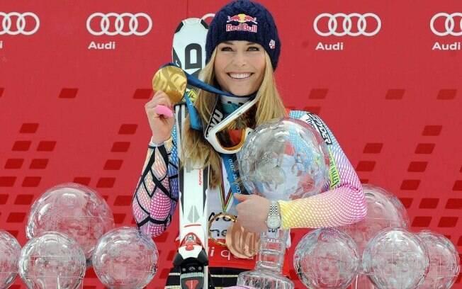 Lindsey Vonn fez história no esqui mundial