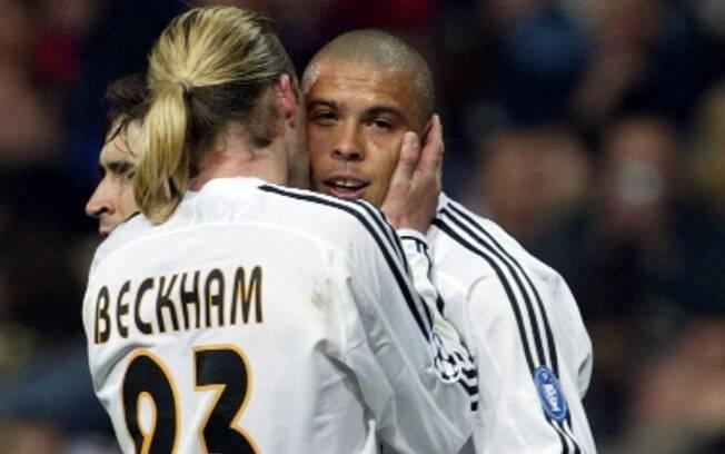 Beckham atuou com astros como Ronaldo no Real  Madrid
