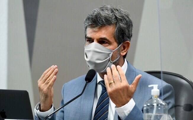 Ex-ministro da Saúde Nelson Teich em depoimento para a CPI da Covid