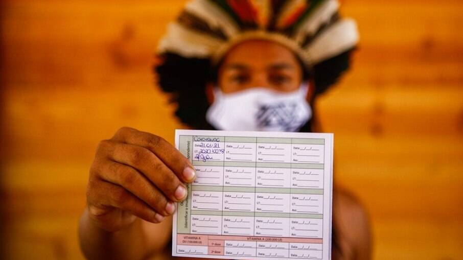 Aldeia em que indígenas tiveram Covid-19 na Grande BH recebe doses de vacina