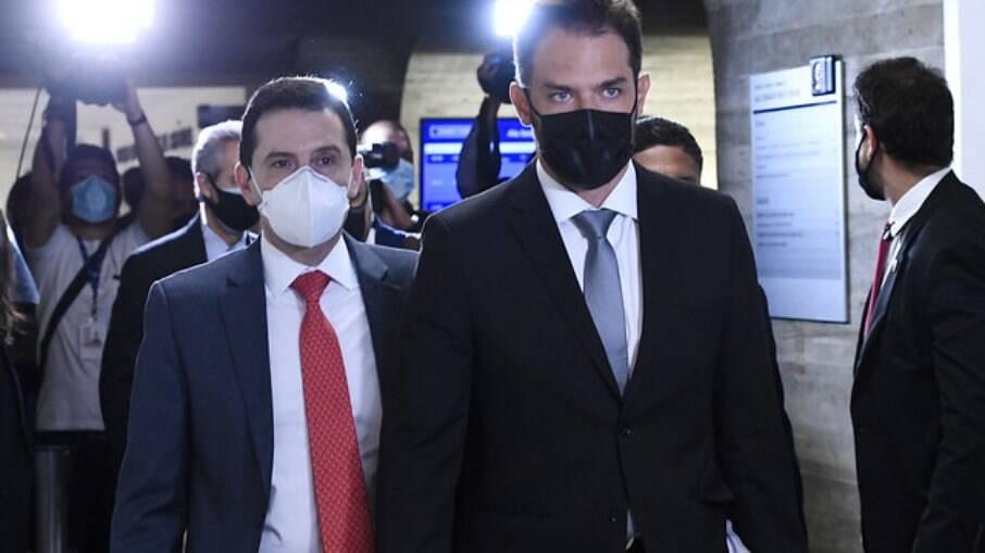 Emanuel Catori chegando ao Senado Federal