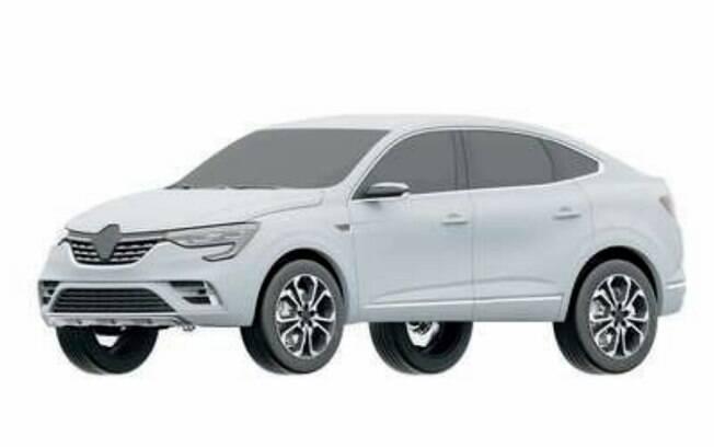 Imagem da patente registrada no Brasil do Renault Arkana não mostra nenhuma diferença em relação  ao protótipo