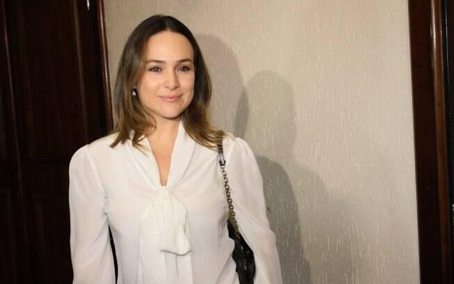 Gabriela Duarte mostrou estar realizada com Manuela e Frederico: