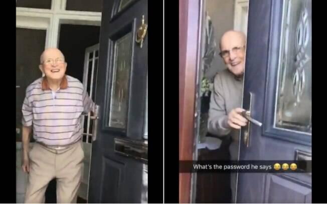 Vídeo que mostra avô recepcionando a neta na porta diversas vezes já tem mais de 6 milhões de visualizações