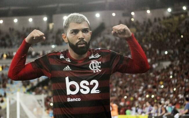 Gabigol vive um momento ruim com a camisa do Flamengo