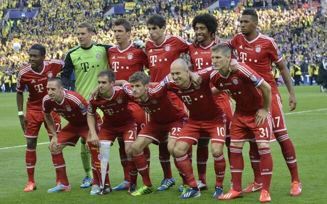 Time do Bayern na foto oficial antes do jogo