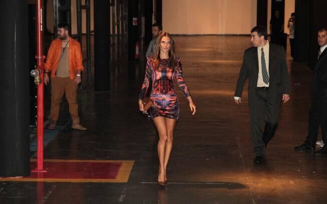 Alessandra Ambrosio chegando ao SPFW