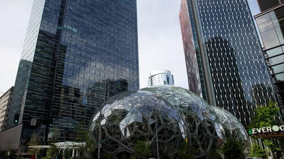 Esferas da sede da Amazon