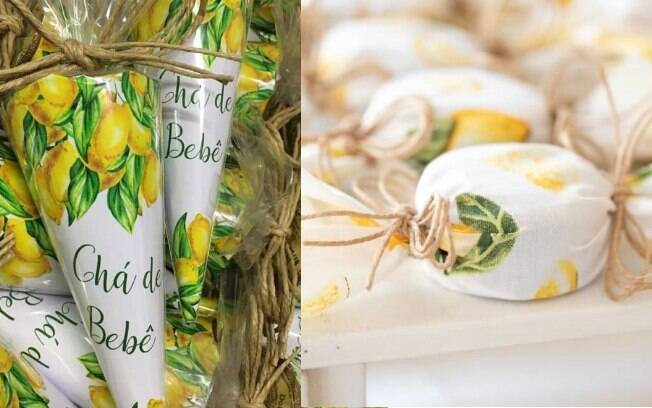 Chá de bebê de Sabrina Sato: os docinhos também seguiram o tema da decoração e tiveram o limão siciliano estampado