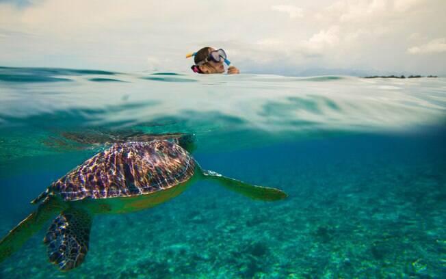 Bali, na Indonésia, é um destino formado por 17 mil ilhas, por isso, é um destino tão visitado por quem ama mergulho