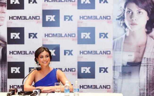 Morena Baccarin no Brasil: atriz vem para o País todos os anos