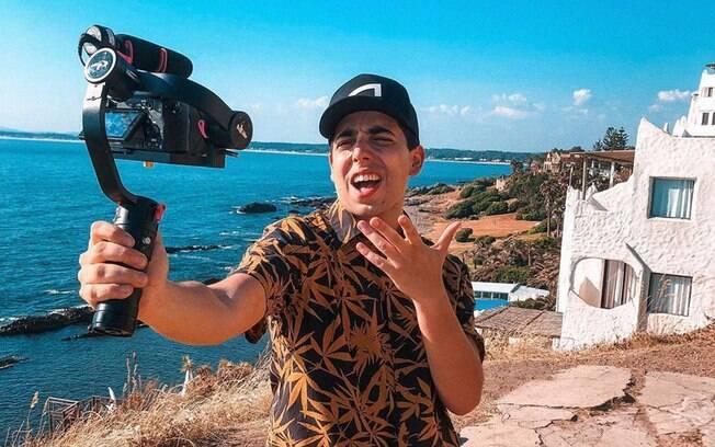 O youtuber Lucas Maciel estará em