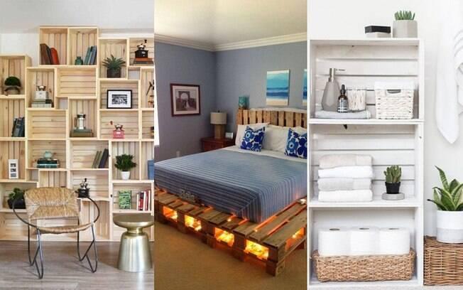 Paletes na decoração: 24 ideias incríveis e baratas para você ter em casa