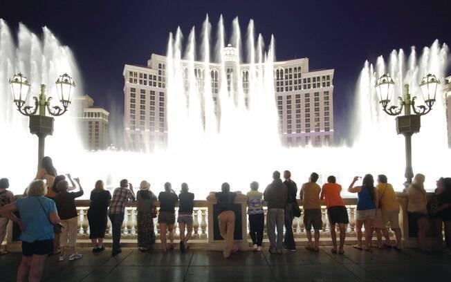 Balé das fontes do hotel Bellagio é um dos clássicos de Las Vegas