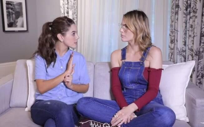 Giovanna Lancellotti dá conselhos em vídeo e diz o que faria se fosse paquerada pelo namorado da amiga