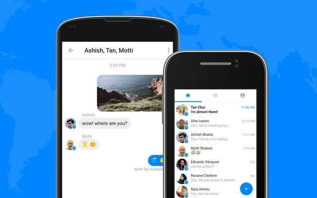 Messenger Lite permite que usuários troquem mensagens e consumam menos dados