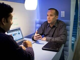 Venkat Panchapakesan e David Girouard, do Google Apps for Business: serviço encontra dificuldades para bater Office, da Microsoft