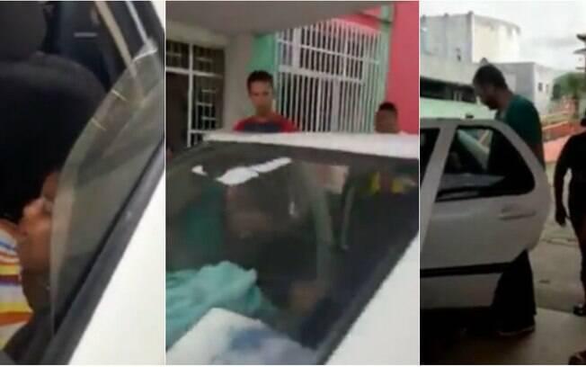 Mulher deu à luz dentro de carro. Em vídeo, é possível ouvir choro do bebê