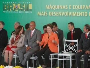 POLITICA POCOS DE CLADAS MG: PRESIDENTE DILMA ROUSSEF VAI A POCOS DE CALDAS ENTREGAR MAQUINAS NO PAC 2.  FOTOS: DENILTON DIAS / O TEMPO / 30/05/2014