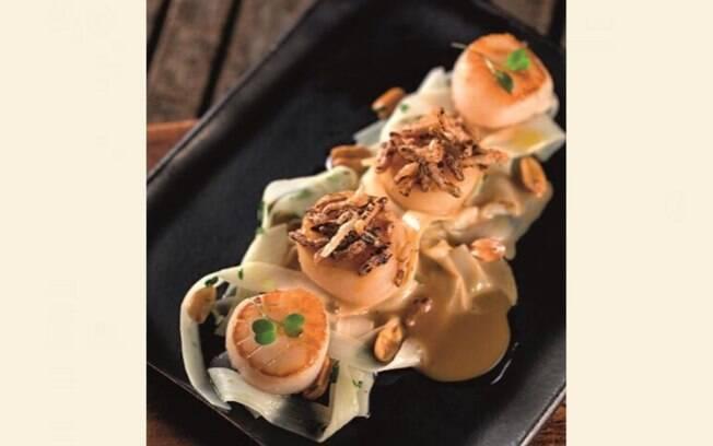 O chef diz que essa é uma receita ideal para comer a dois e se destaca pela mistura entre doce e salgado