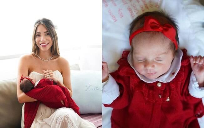 Romana Novais mostra o rosto da filha Raika
