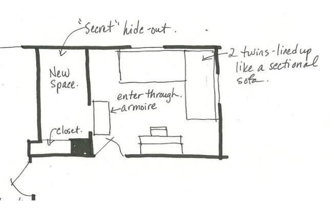 Pais desistiram do próprio closet para deixar o quarto da filha mais mágico, e a menina, é claro, amou a ideia