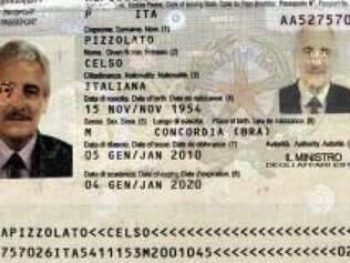 Henrique Pizzolato entrou na Itália com passaporte do  irmão  Celso,  já  falecido