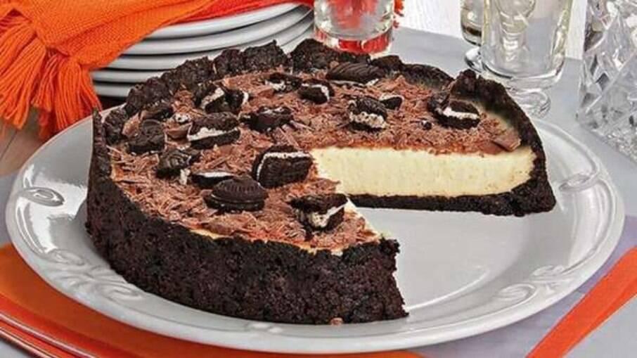 Torta de biscoito com creme de baunilha: a sobremesa perfeita