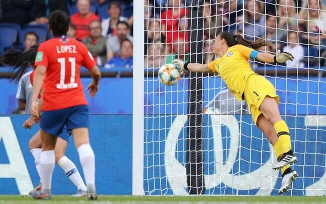 Endler foi uma das goleiras que se destacaram na primeira fase do Mundial feminino