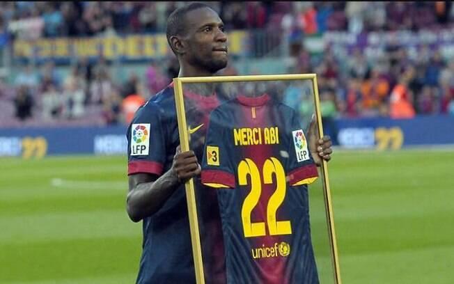 Abidal lutou contra um câncer no fígado em 2011, quando era jogador do Barcelona