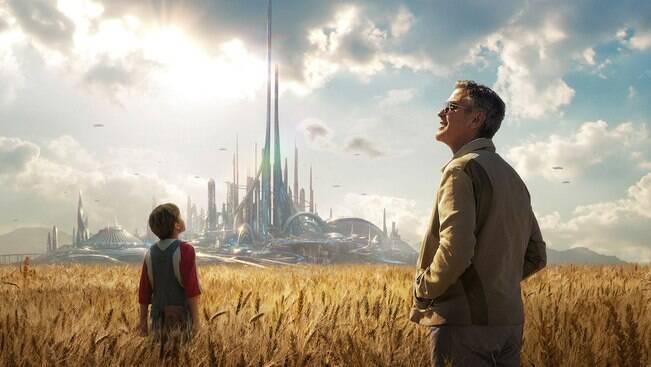 "Exclusivo: Clooney explica<br> o que é ""Tomorrowland"""