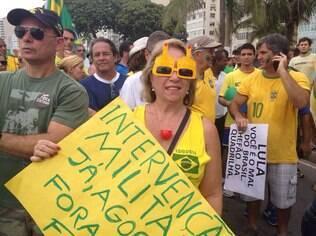 Participante do protesto de 15/3, no Rio