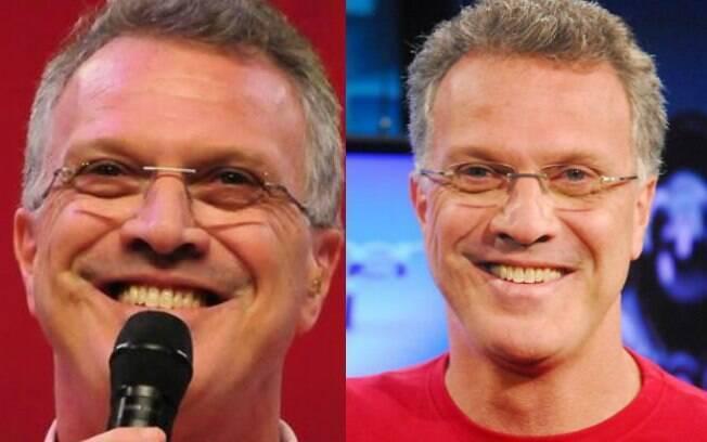 O apresentador Pedro Bial não faz questão de clarear os dentes e deixá-los com aspecto artificial