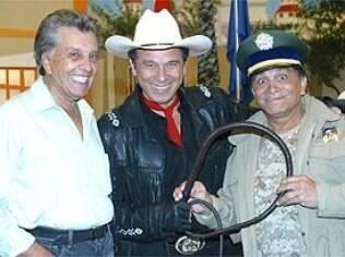 Wilton Franco em 2006 com Beto Carrero e Dedé Santana