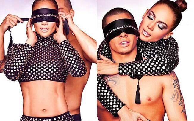 Jennifer Lopez e o namorado posaram com a barriga de fora para divulgar o novo clipe