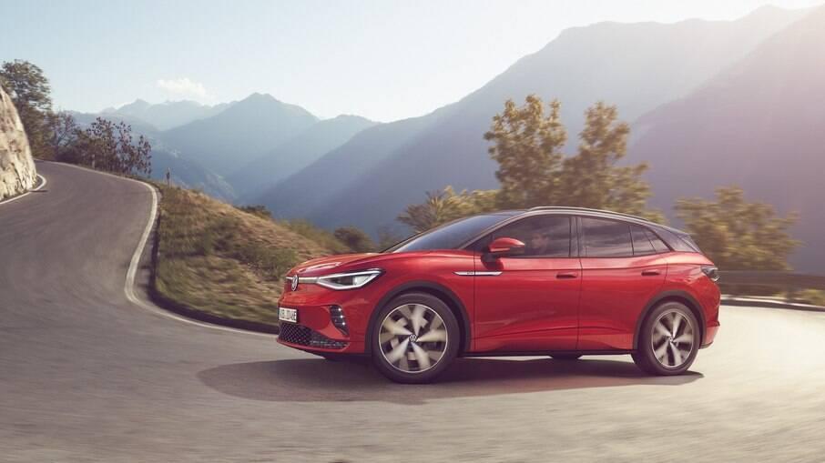 VW ID.4 GTX: versão com apelo do SUV elétrico é capaz de acelerar de 0 a 100 km/h em apenas 6,2 segundos, diz a fabricante