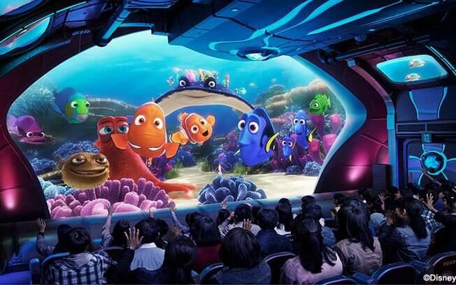 Divirta-se com Nemo e seus amigos em uma aventura que irá levá-lo para baixo do mar, na Disney de Tóquio