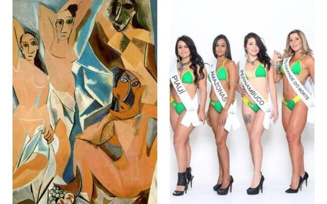 A vida imita a arte? Confira a foto dos famosos que parecem obras de arte